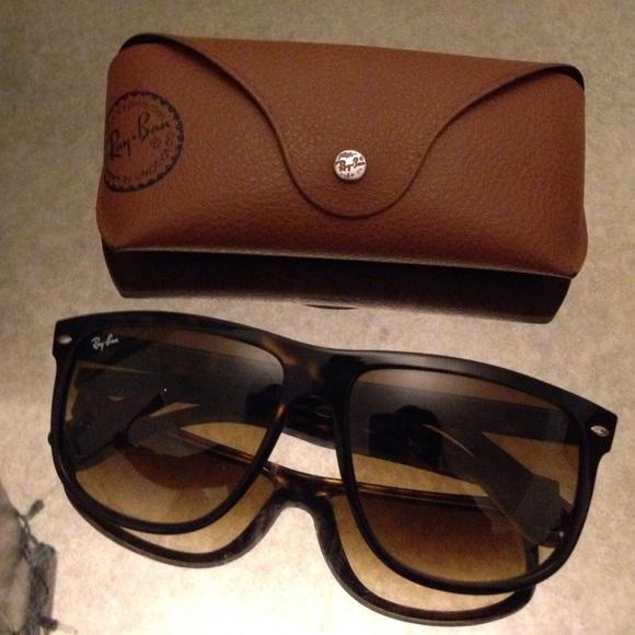 ba0029e3b9 RayBan 4147 Tortoise Flat Top Boyfriend Sunglasses.  M 568319d4ea3f3656ef009279