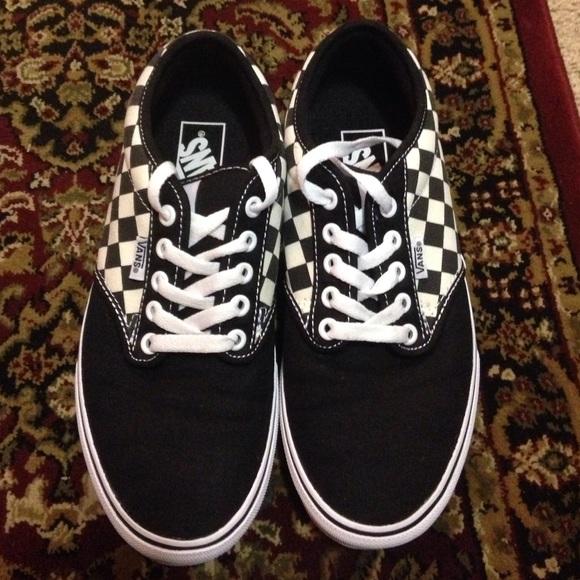 vans grey checkerboard atwood