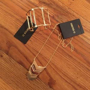 NWT Bundle- necklace and cuff
