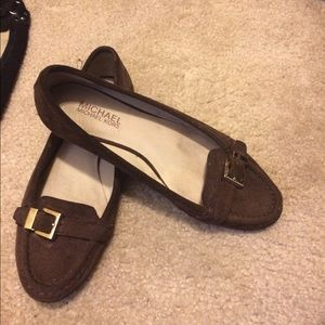 Brown suede Michael Kors flats