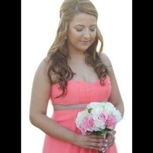 Coral Bridesmaid Wedding Gala Prom Homecoming