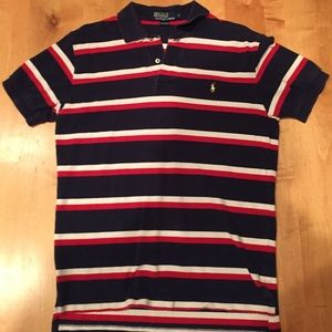 Ralph Lauren Polo Shirt in Red, White, and Blue -M
