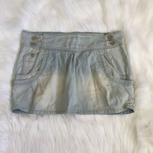 Zara Skirts - FADED MINI JEAN SKIRT