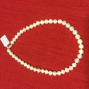 "18"" Pearl necklace with crystal halo"