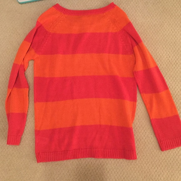 63% off Joe Fresh Sweaters - Joe Fresh Orange & Pink Striped ...
