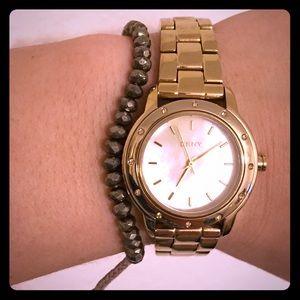 Gold DKNY Watch