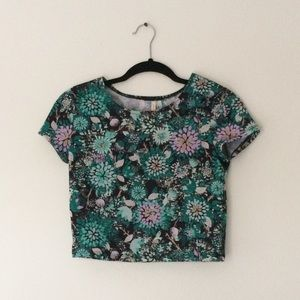 Frenchi Tops - Frenchi Floral Crop Top