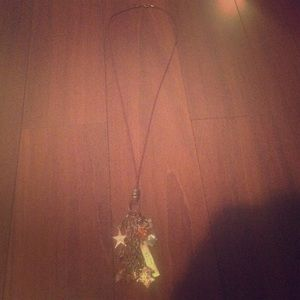 Beautiful Long Necklace with Charms