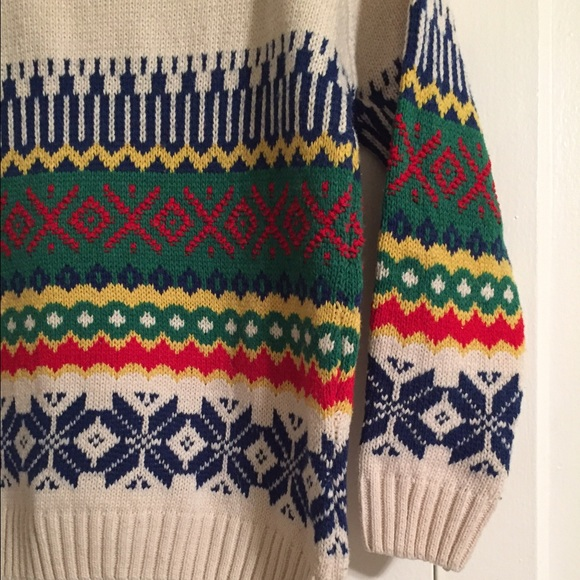 77% off Vintage Sweaters - Vintage Nordic Fair Isle Winter Sweater ...