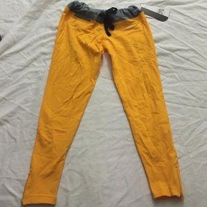 Cute yellow and grey yoga pants