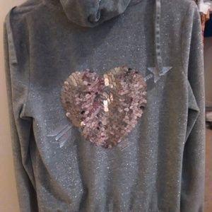 Vs pink shimmer bling hoodie
