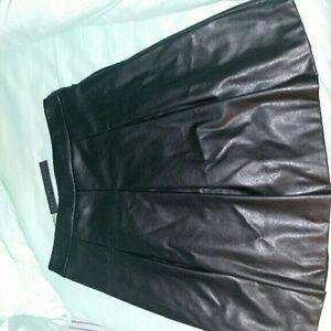 Ivanka Trump Black Faux Leather Skirt