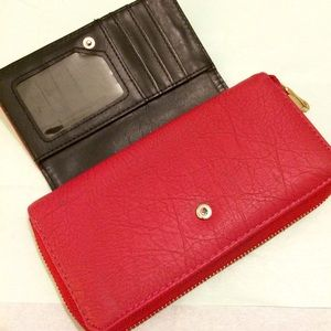 Bags - Red Faux Leather Wallet