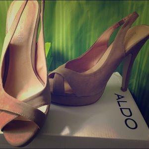 ALDO MEZZATESTA Taupe Heels Size 40 (US 9 - 10)