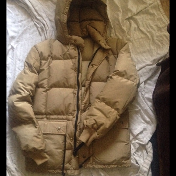 925a2e6ed Vintage Eddie Bauer Tan Puffy Goose Down Jacket S