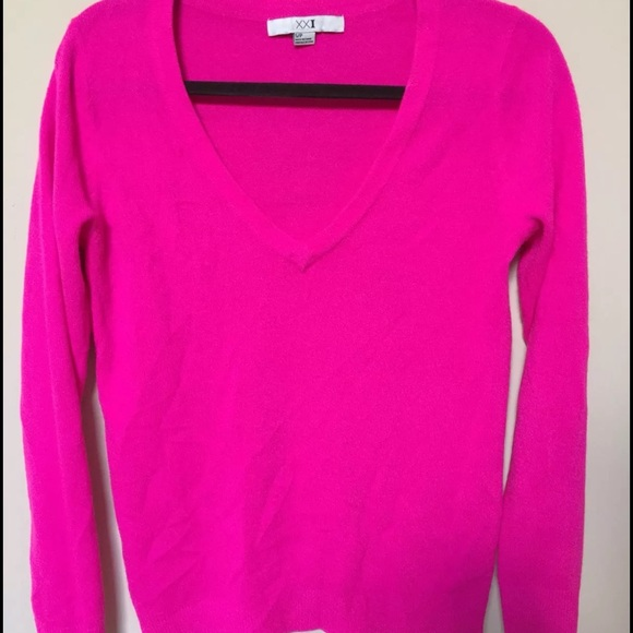Forever 21 - NWOT Forever 21 Hot Pink Sweater from S's closet on ...