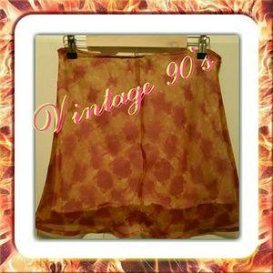 Lapis Dresses & Skirts - Vtg.🌺Abstract Fall Colors Mini Skirt 🌺
