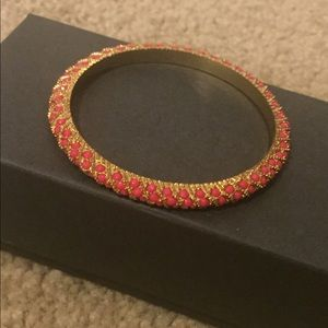 Lilly Pulitzer Gold and Coral Bangle