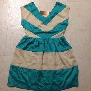Francesca's Collections Dresses & Skirts - Cream and Aqua dress