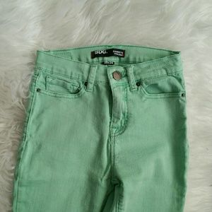 Mint Green High Waisted Jeans