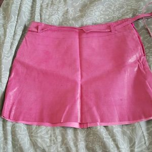 Leather Express pink mini skirt. Size 3/4