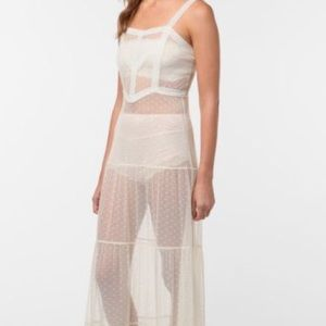 Free People Dresses Foundiso Uo Staring At Stars Mesh Dot Maxi