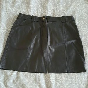 Leather Express World Brand black mini skirt.