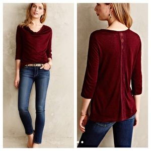 Anthropologie Tops - Anthro drape neck pullover