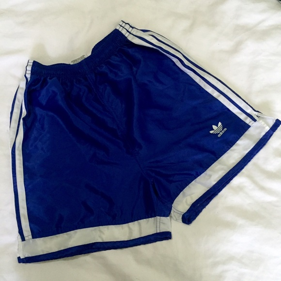 75% off Adidas Pants - Adidas blue shorts with classic logo from ...
