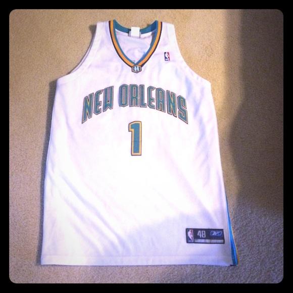 bdf4f16e6 Authentic Baron Davis New Orleans Hornets Jersey. M 56842e90ea99a60bd0037b05