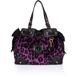 Juicy couture purple leopard daydreamer bag
