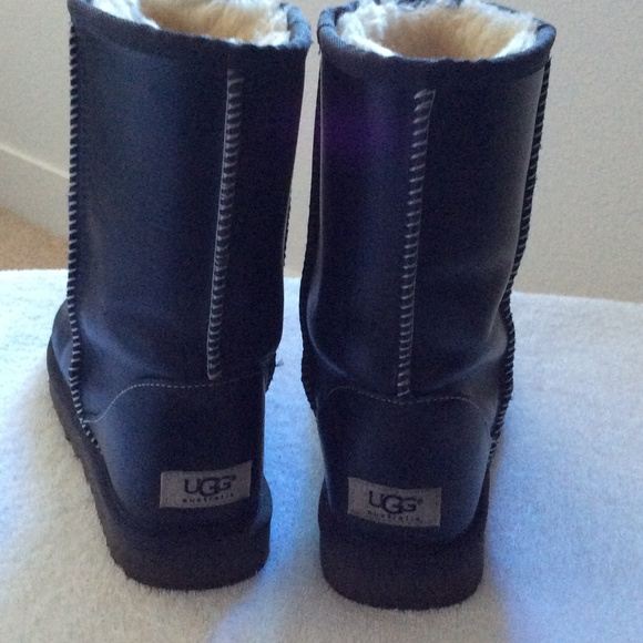 blue leather ugg boots off 57% - www