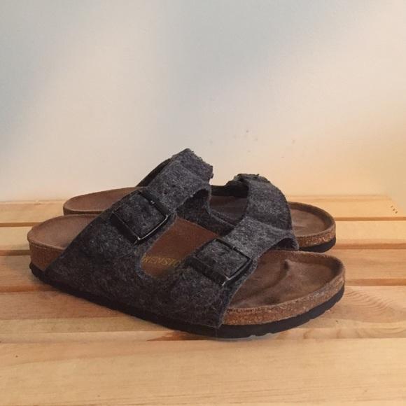 970c715d4f6f Birkenstock Shoes - Grey wool Birkenstocks
