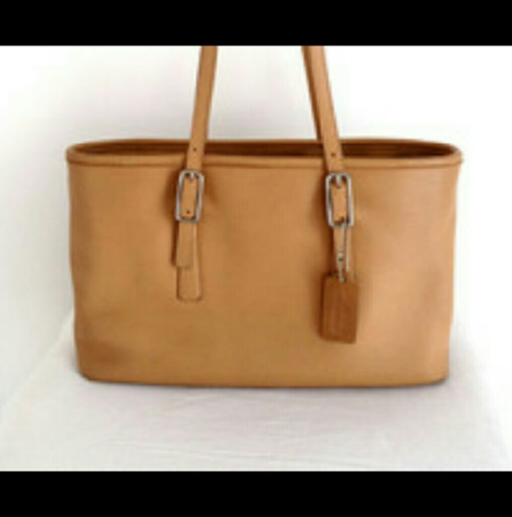 Vintage Coach Legacy West Market Tan Leather Tote