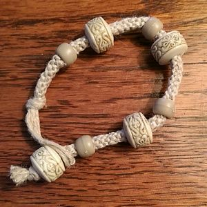 Handmade Hemp & Bead Bracelet