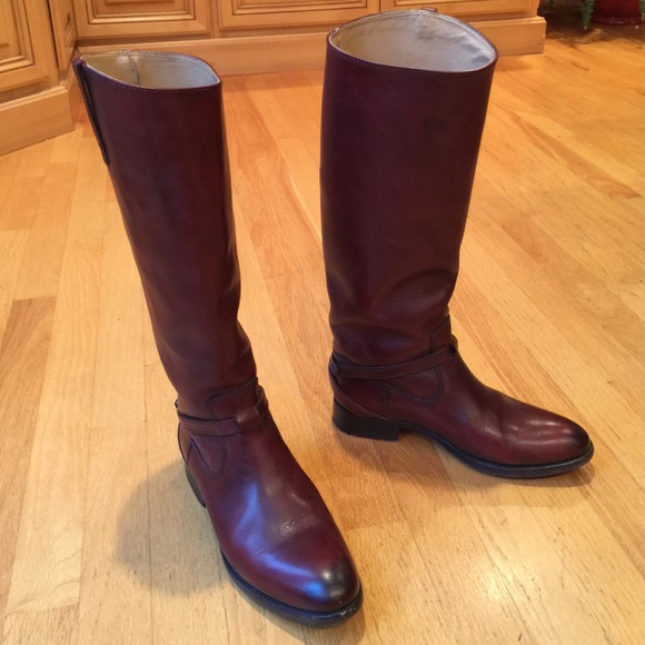 Frye Lindsay Plate Leather Riding Boots