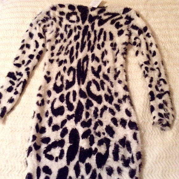 78% off Daniel Tops - NWT Eyelash Animal Print Sweater