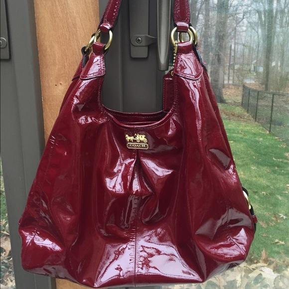 b1732292b9 Coach Handbags - SUNDAY SALE🙌🏻 COACH red patent leather hobo bag