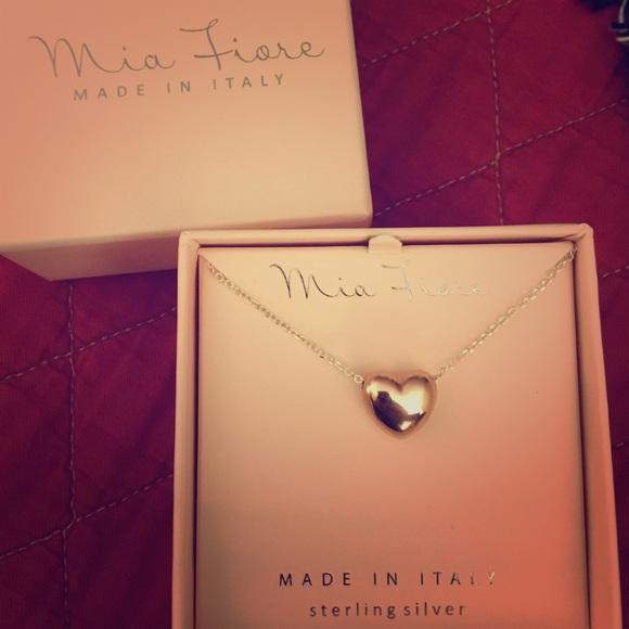 85 off Jewelry Mia Fiore Rose Gold Puffed Heart Poshmark