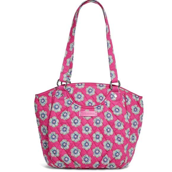 Vera Bradley Handbags - Vera Bradley Glenna Satchel Pink Swirl Flowers NWT