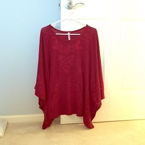 Tops - Big Burgundy Batwing Top