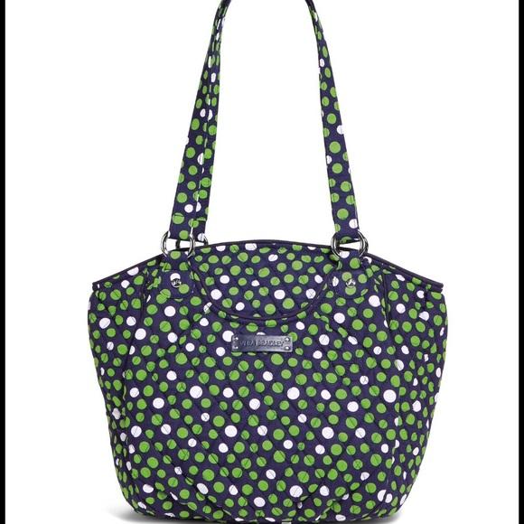 Vera Bradley Bags | Glenna Satchel Lucky Dots Nwt | Poshmark