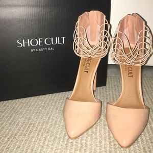 Nude Strappy Heels (Shoe Cult by Nasty Gal)