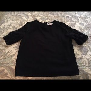 Black LOFT shirt size small with lace sleeves