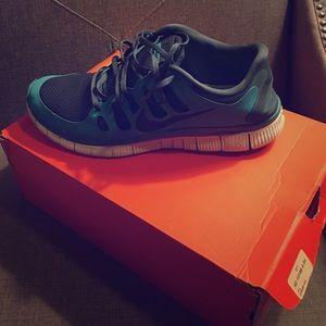 Nike Shoes - Nike Free Runs Blue and Gray Men's 13!