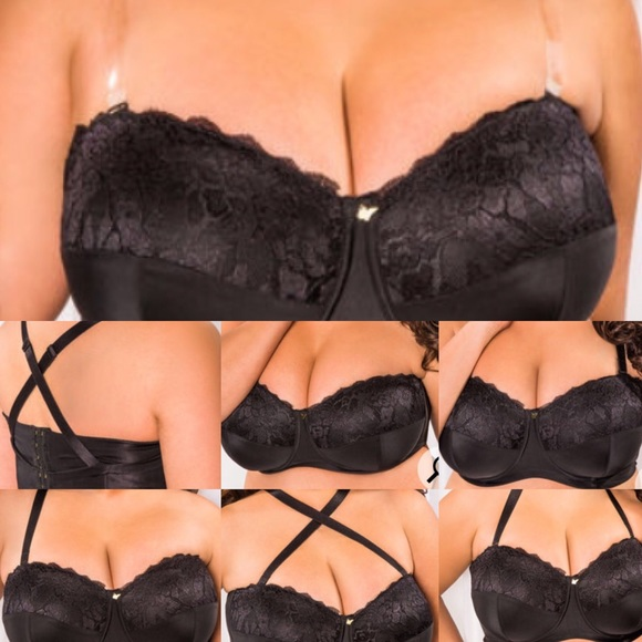 94beb843b2 BLACK CONVERTIBLE STRAPLESS BUTTERFLY BRA