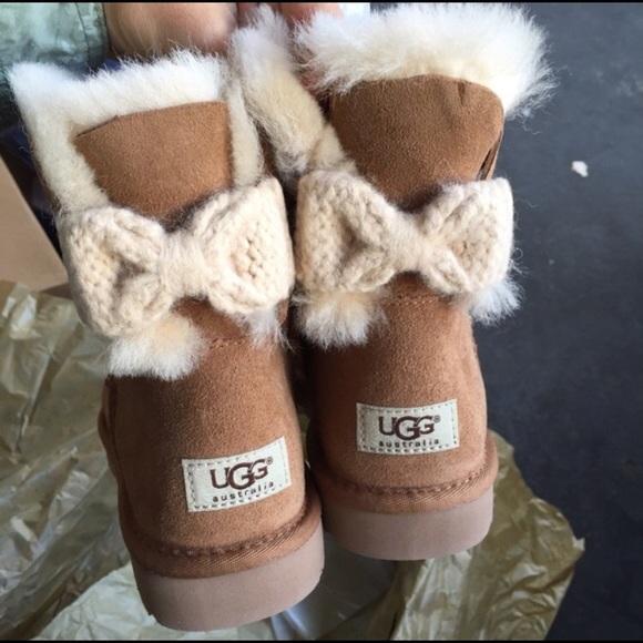 Ugg Australia Mini Bailey Knit Bow