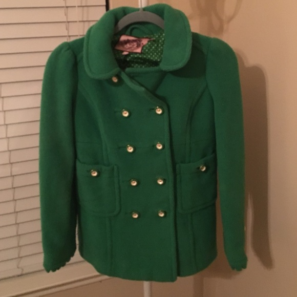 f28a52b4fb1b Juicy Couture Jackets   Blazers - Juicy Couture Green Pea Coat