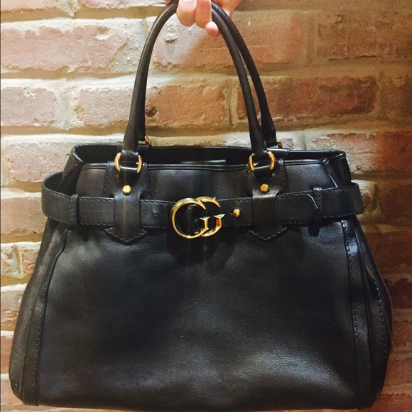 2495f83e003 Gucci Handbags - Gucci Black Smooth Leather GG Running Tote