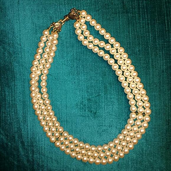 Richelieu Jewelry 3 Strand Pearl Necklace Poshmark